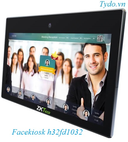 Máy chấm công nhận diện khuôn mặt kết hợp vân tay ZKTeco FaceKiosk-H32 FD1032H 32 wall mounted