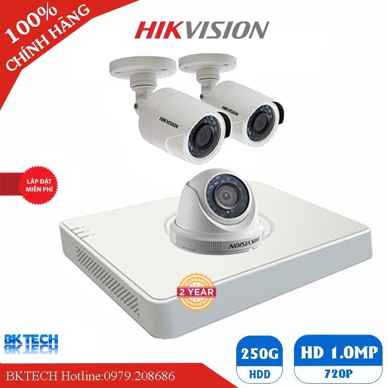 Lắp Đặt Trọn Bộ 3 Camera Giám Sát HIKVISION HD BK-3CEC0T