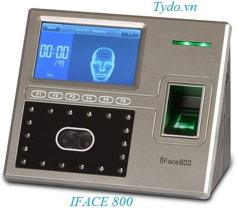 Máy chấm công nhận diện khuôn mặt kết hợp vân tay ZKTeco Iface 800