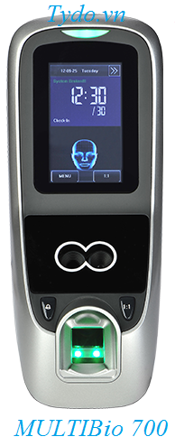 Máy chấm công nhận diện khuôn mặt kết hợp vân tay ZKTeco MultiBio 700