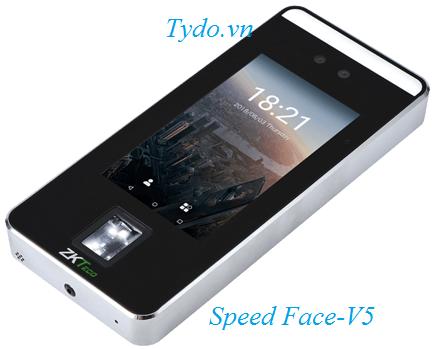 Máy chấm công nhận diện khuôn mặt kết hợp vân tay ZKTeco Speed Face- V5