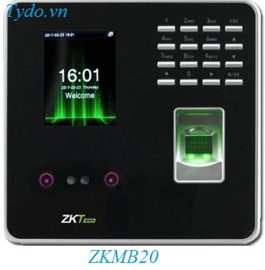 Máy chấm công nhận diện khuôn mặt kết hợp vân tay ZKTeco MB20