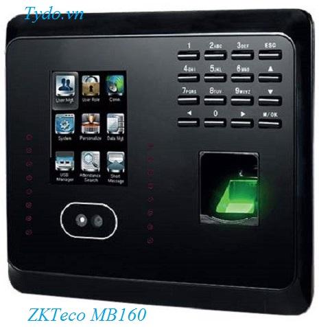 Máy chấm công nhận diện khuôn mặt kết hợp vân tay ZKTeco  MB160