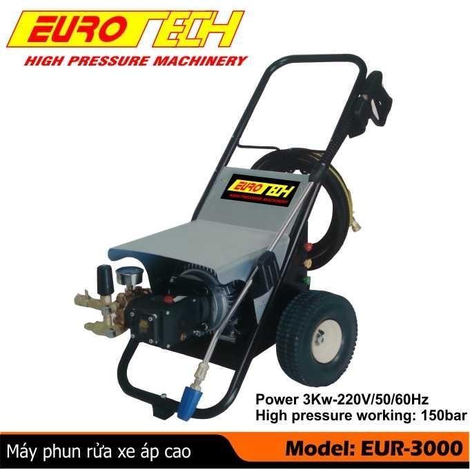 Máy rửa xe cao áp 3 KW EUROTECH - ITALY
