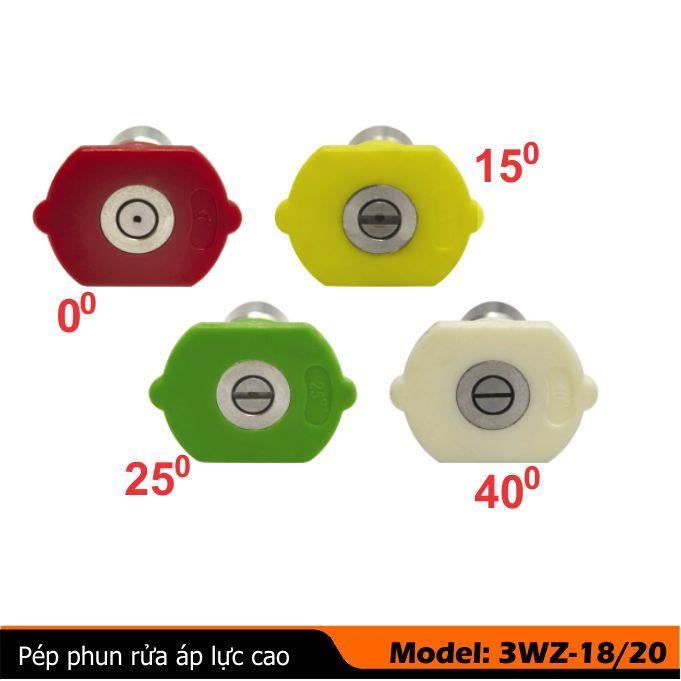 Đầu pép phun rửa xe áp cao 0-15-25-40 độ