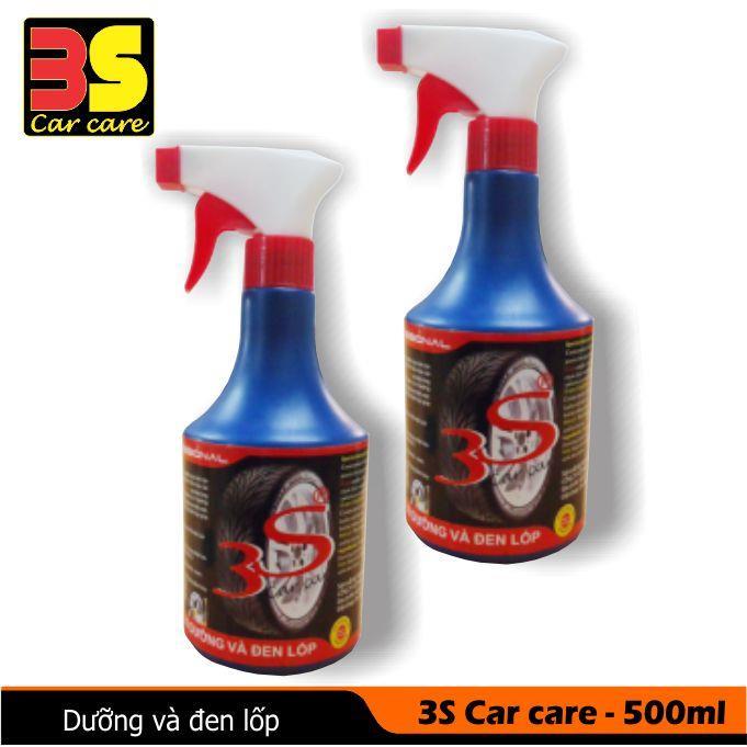 Dung dịch dưỡng và đen lốp 3S Car care