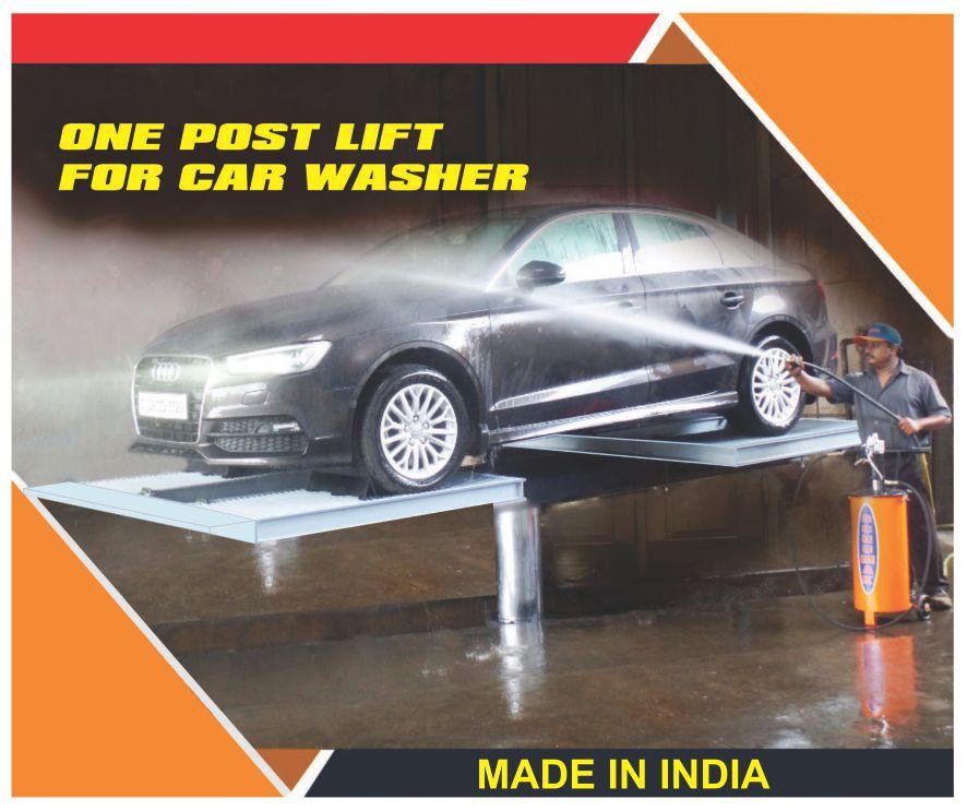 Cầu nâng 1 trụ rửa xe ô tô Ấn Độ