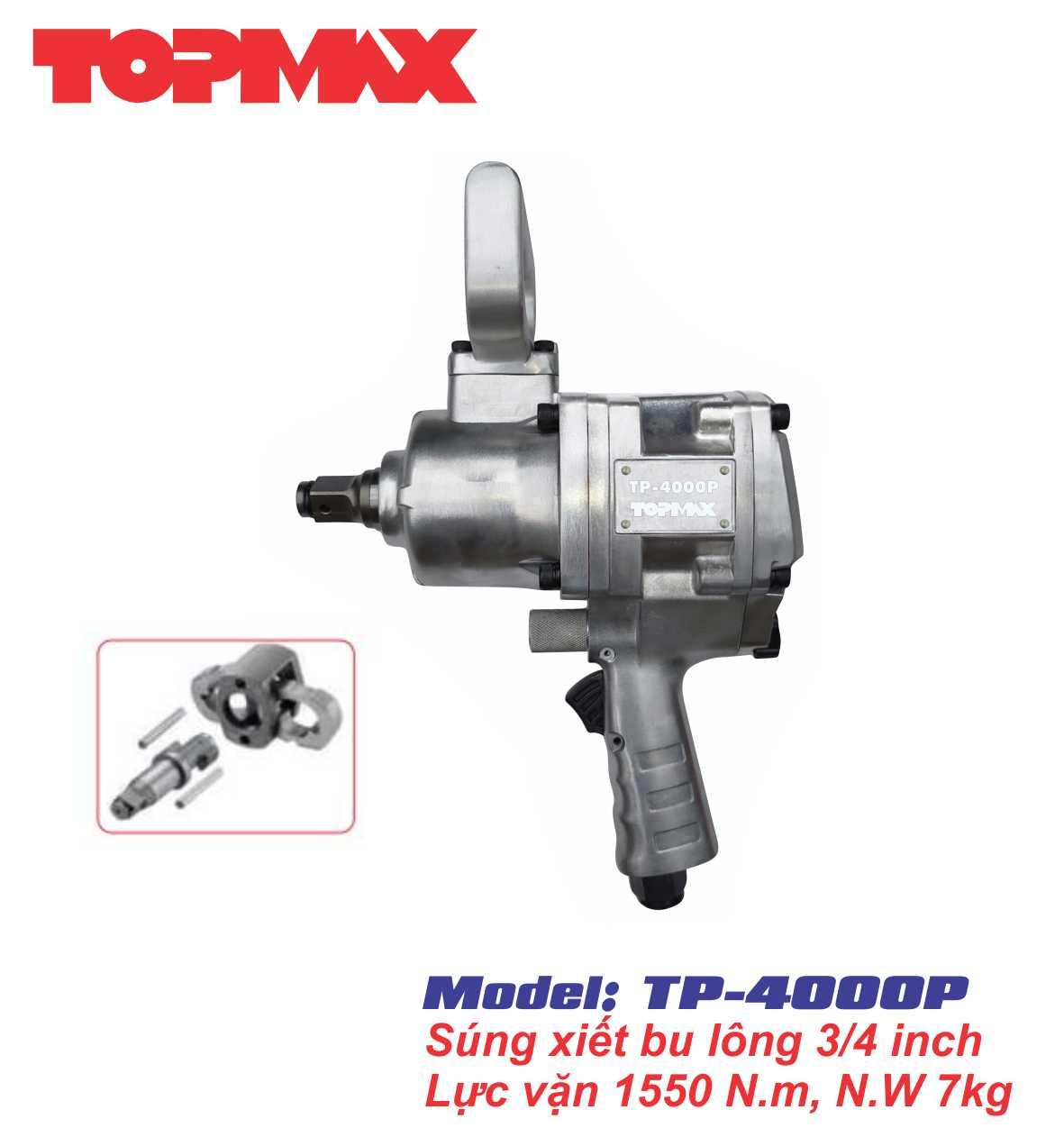 Súng xiết bu-long 3/4 inch TP-4000P