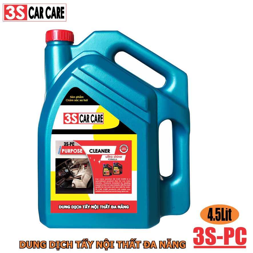 Dung dịch tẩy nội thất 3S CAR CARE 4,5 lít