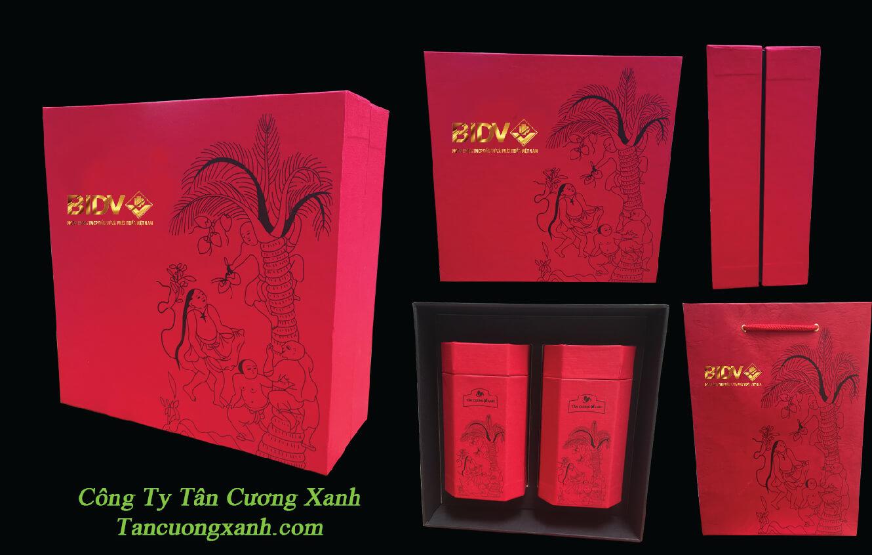 Trà Tân Cương In Logo Qùa Tặng