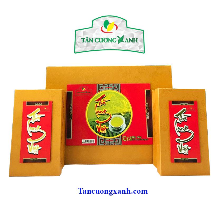 Hộp Trà Tân Cương Long Việt - Qùa Tặng Chè Thái Nguyên