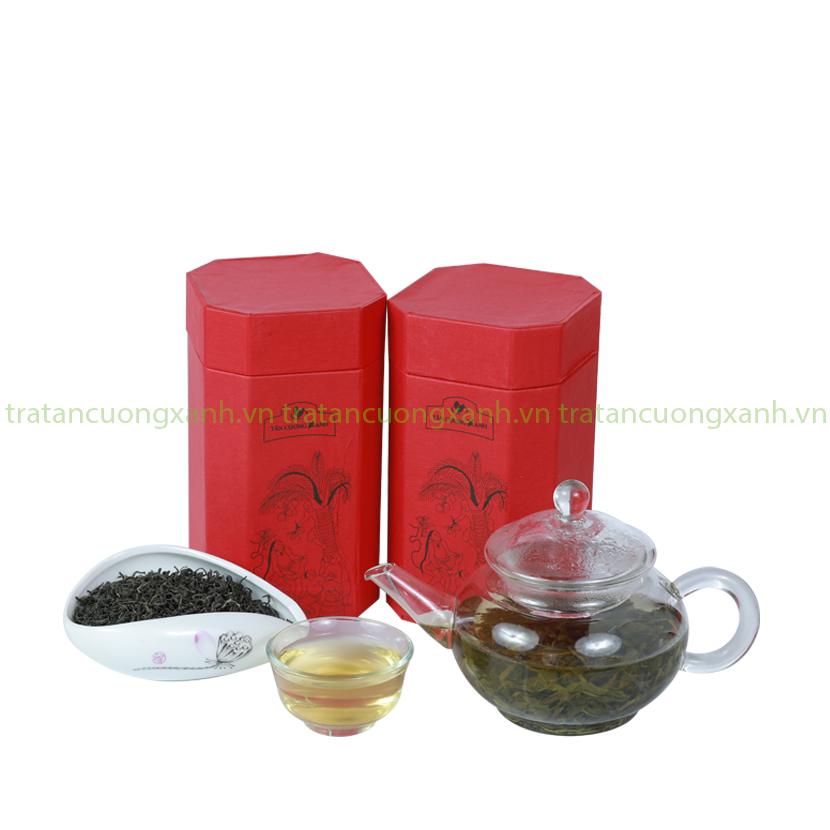 Trà Sen Tây Hồ - Hộp Hứng Dừa 200gram