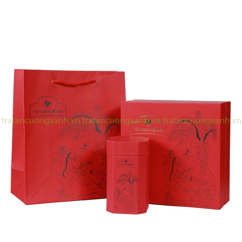 Trà Ướp Hoa Nhài 200gram - Hộp Hứng Dừa