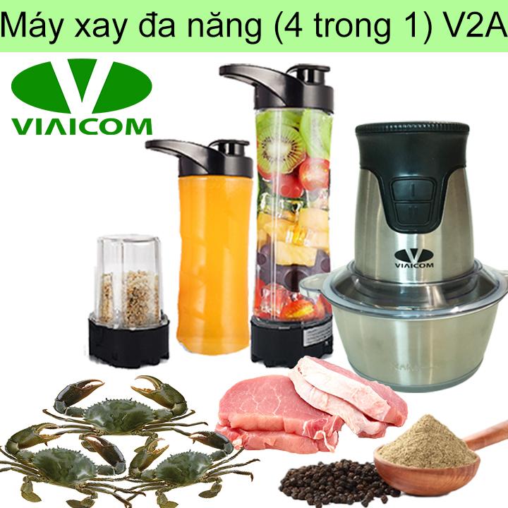 Máy xay đa năng gia đình 4 trong 1 VIAICOM V2A – Cối inox