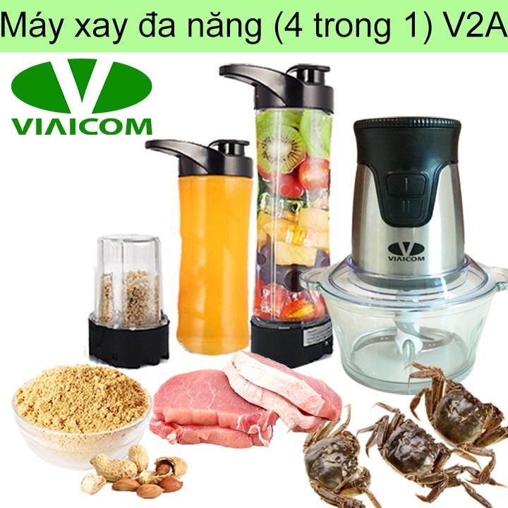 Máy xay đa năng VIAICOM V2A (4 trong 1- Cối thủy tinh)