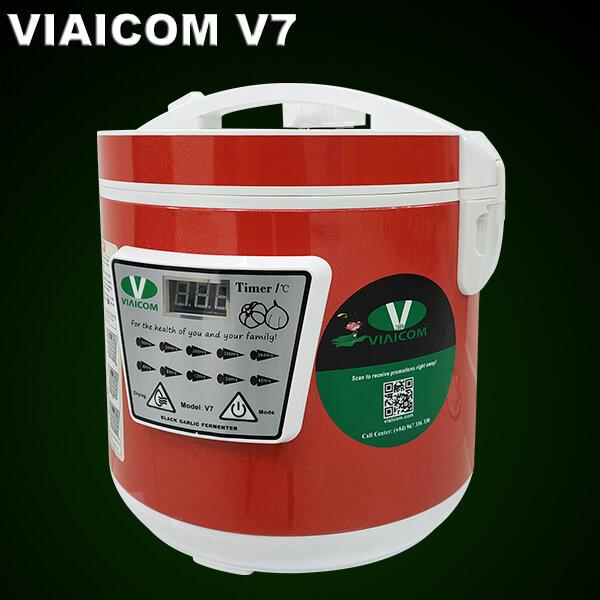 Máy làm tỏi đen Viaicom V7 màu đỏ – Công nghệ Nhật – 2021
