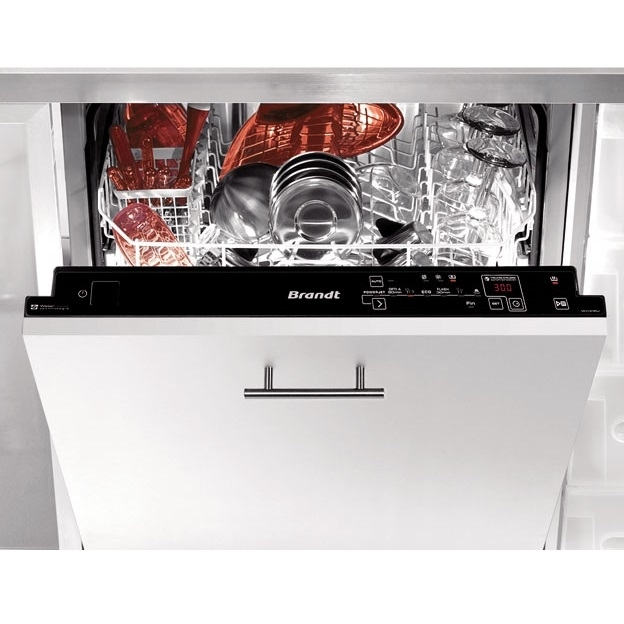 Máy rửa bát âm tủ Brandt VH1235J Stainless Steel