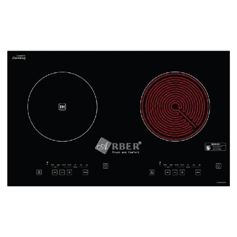 Bếp từ kết hợp hồng ngoại đôi Arber AB-371