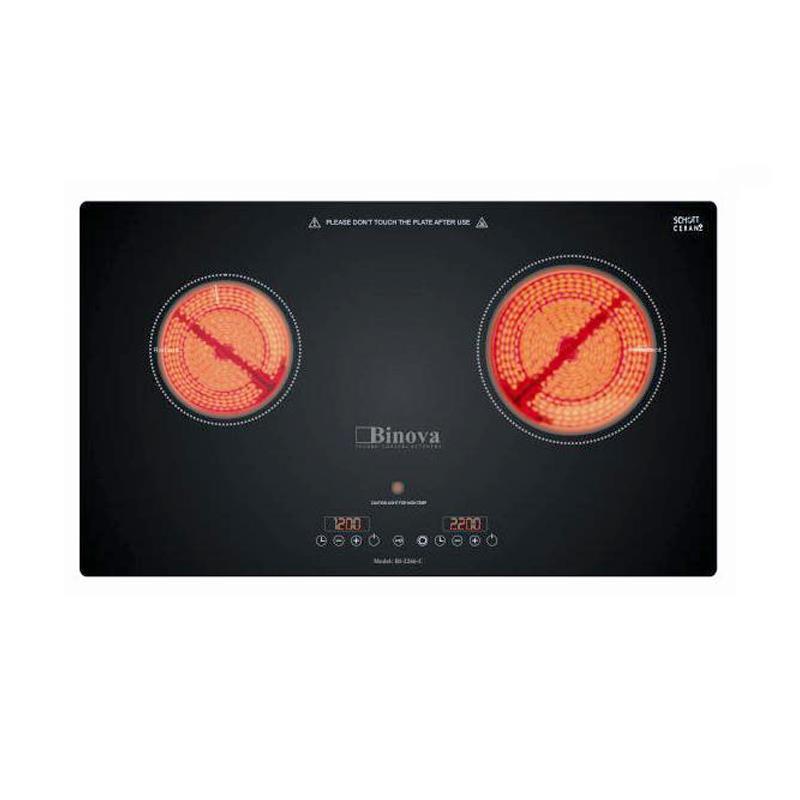 Bếp hồng ngoại đôi Binova BI-2266-C