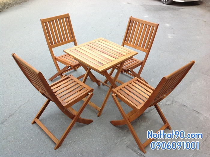 Bàn ghế gỗ 0964