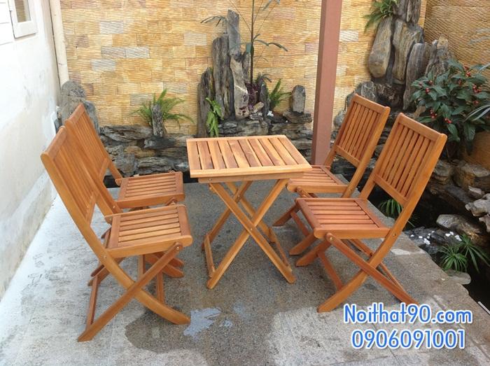 Bàn ghế gỗ 0969