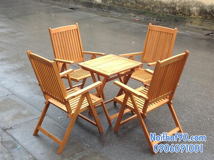 Bàn ghế gỗ 1102