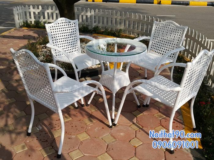 Bàn ghế ngoài trời 3819