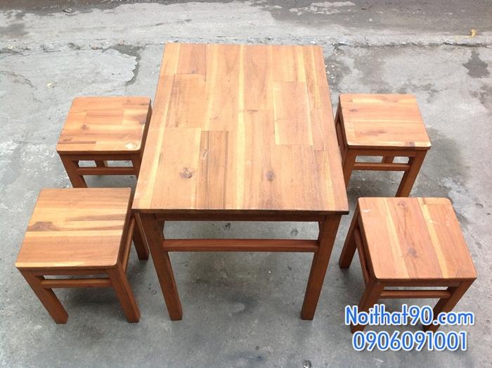 Bàn ghế gỗ 0508