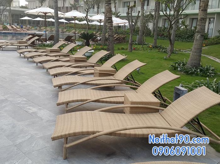 Giường bể bơi, bãi biển, ghế thư giãn 1358