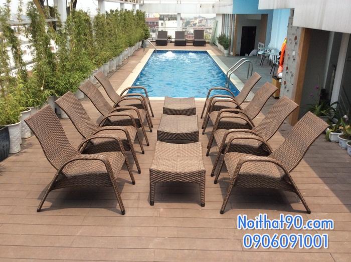 Giường bể bơi, bãi biển, ghế thư giãn 3419
