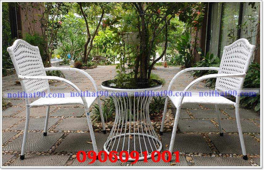 Bàn ghế ngoài trời, bàn ghế cafe 2129