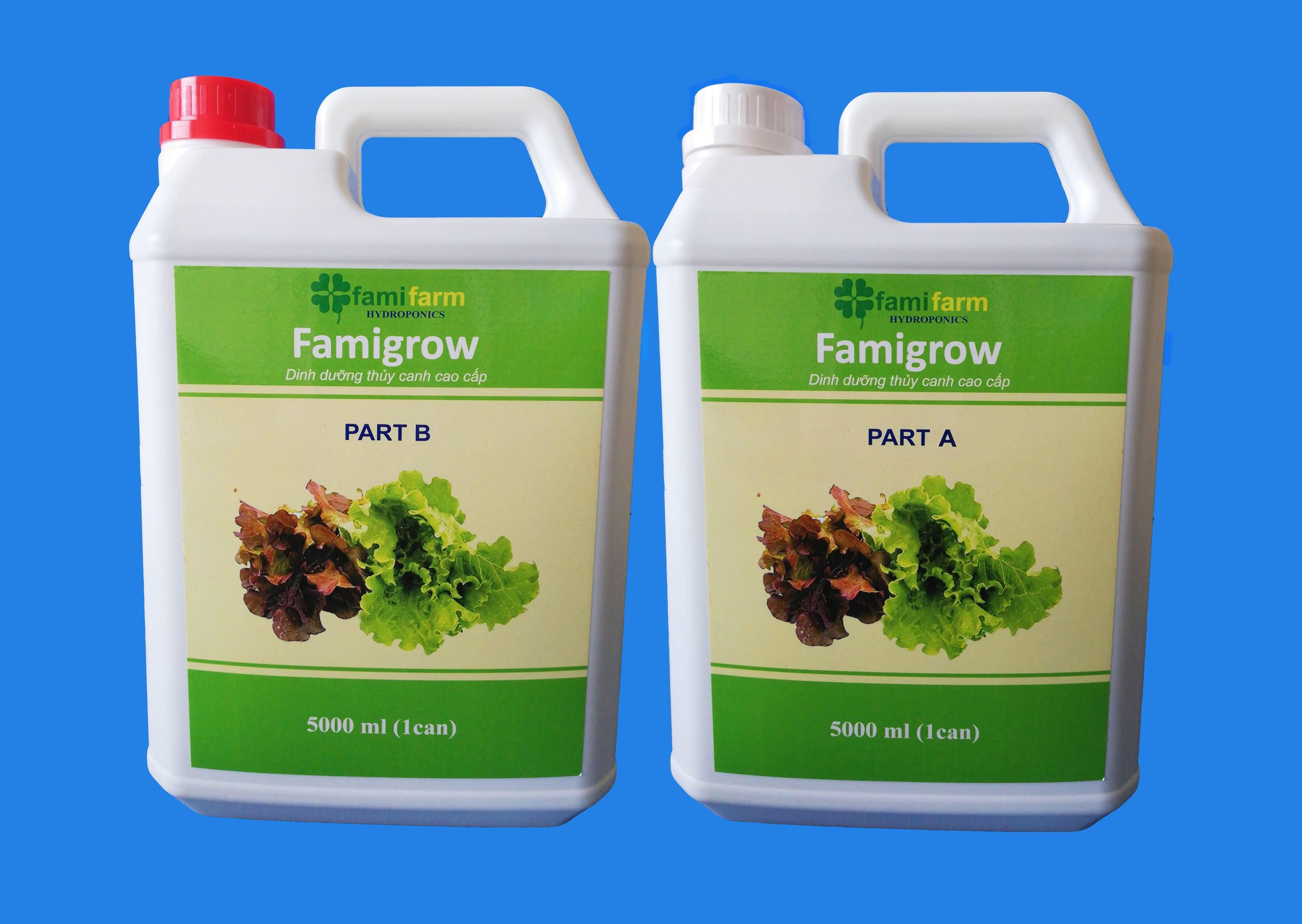 Dinh dưỡng thủy canh Famigrow 10 Lít