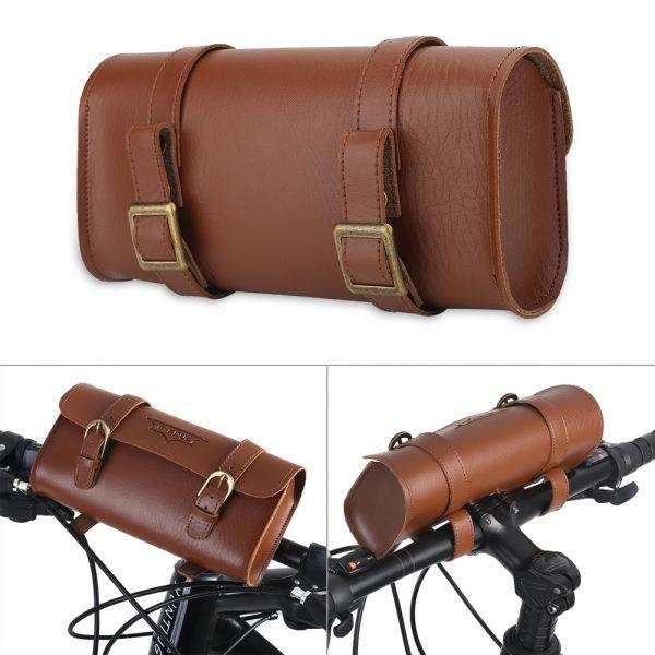 Túi da treo ghi-đông hoặc sau yên xe đạp – B-soul pannier