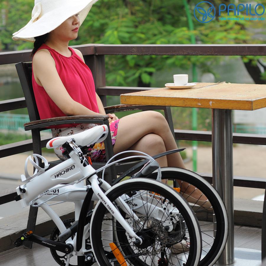 Xe đạp gấp Hachiko HA-01 Chiếc Xe Mang Thương Hiệu Nhật Bản