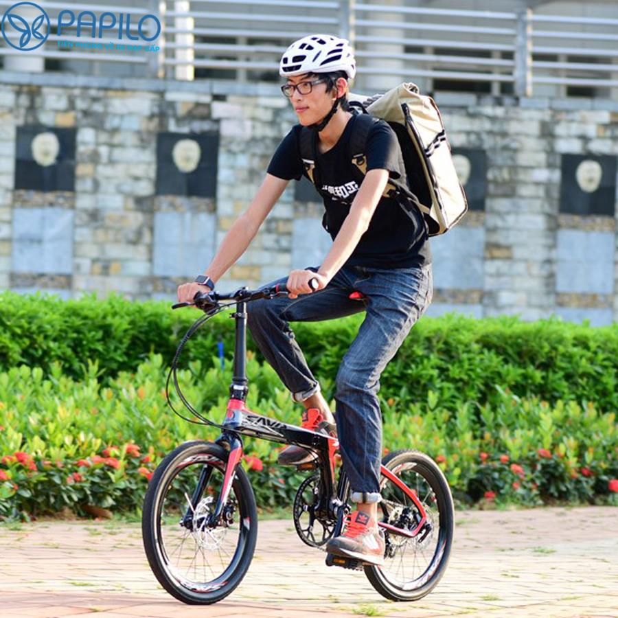 Xe đạp gấp Sava carbon 16 inch (Đức)