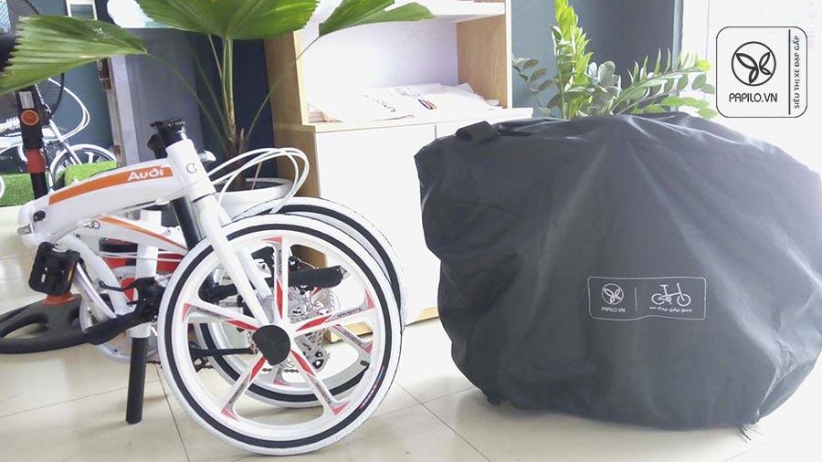 Túi đựng xe đạp gấp cỡ bánh 16-20 inch (túi chùm up-side-down có quai xách)