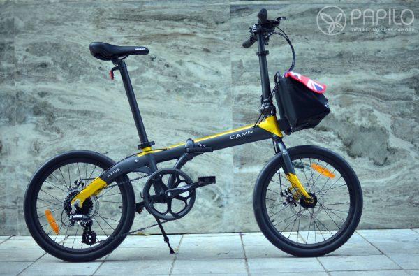 Túi đựng Ecos gắn trước xe đạp (dành cho các xe đạp gấp Brompton, Dahon, Tern, Camp, 3Sixty, Bickerton…) – Size nhỏ