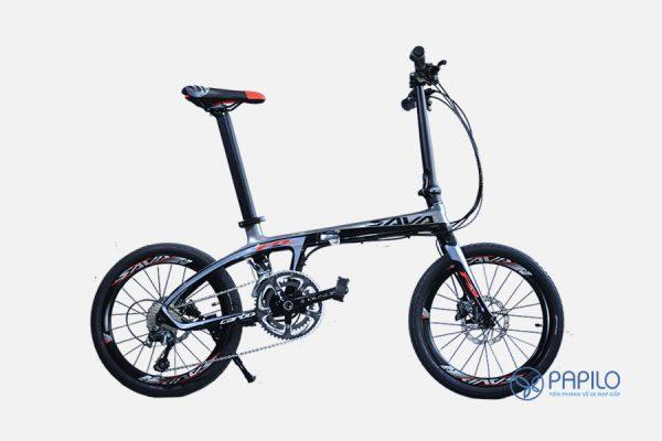 Xe đạp gấp carbon Sava Z4 – 9 tốc độ và siêu nhẹ