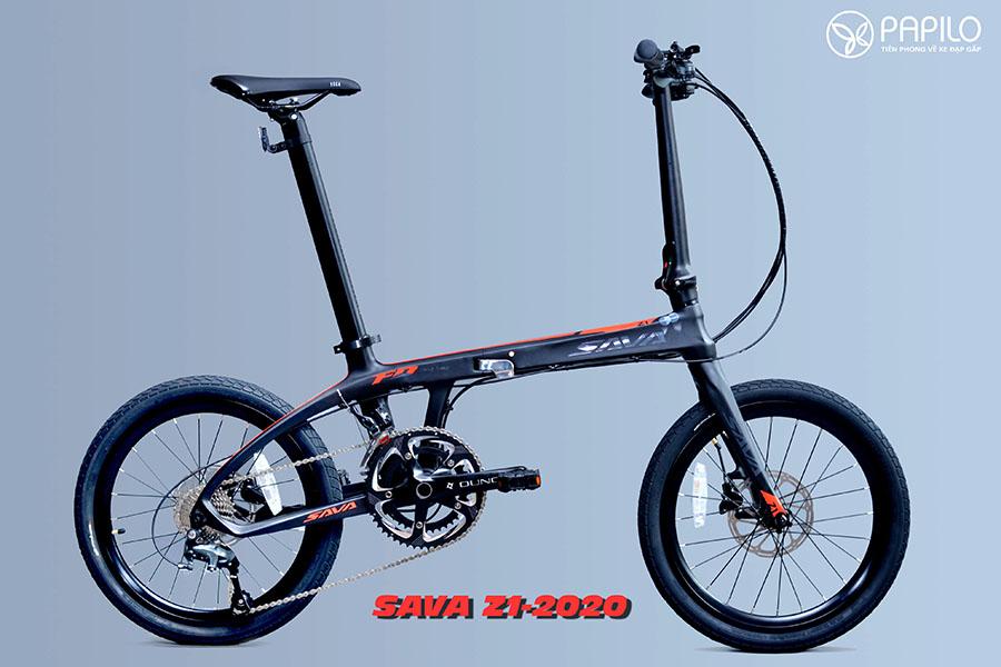 Xe Đạp Gấp Khung Carbon – Sava Z1 (2020 Design)