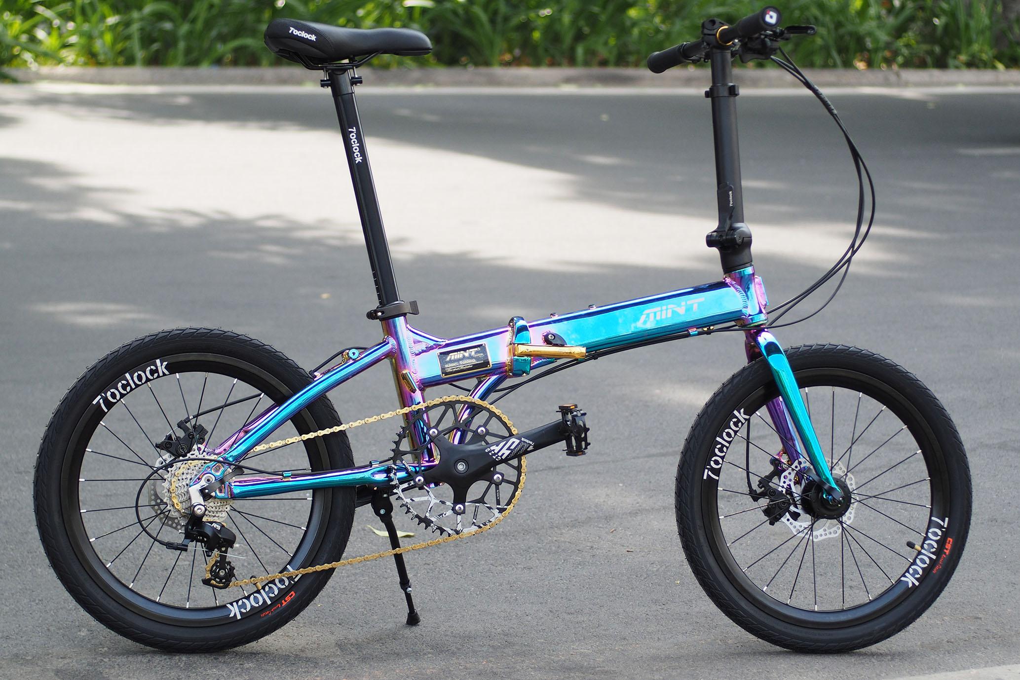 Xe đạp gấp MINT T9- Electro – Công nghệ sơn mạ cao cấp