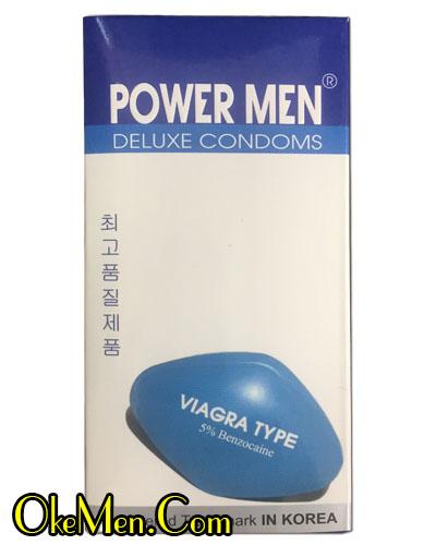Bao cao su chống xuất tinh sớm PowerMen Viagra Type E