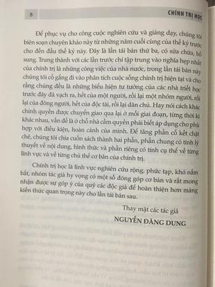Chính trị học Nguyễn Đăng Dung