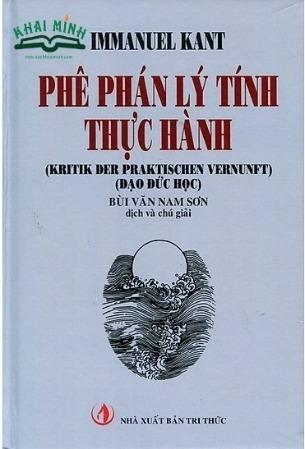 phê phán lý tính, phê phán phán đoán, Kant, Bùi Văn Nam Sơn, Phê phán lý tính thực hành