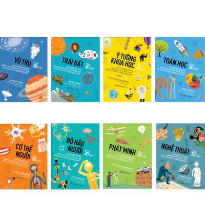 Combo Sách Trong 30 Giây: Nghệ Thuật, Bộ Não Người, Toán Học, Phát Minh, Toán Học, Ý Tưởng Khoa Học, Trái Đất, Vũ Trụ, Cơ Thể Người