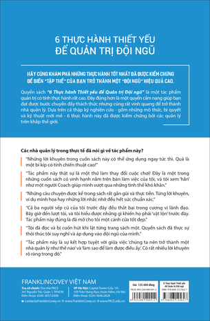 Sách 6 Thực Hành Thiết Yếu Để Quản Trị Đội Ngũ
