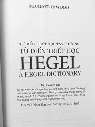 Từ điển triết học Hegel Michael Inwood