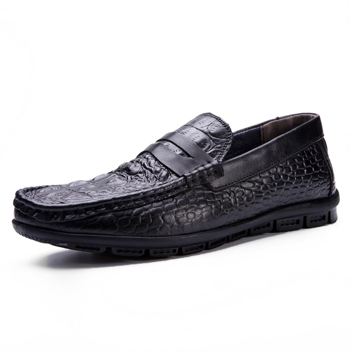 Giày lười da nam trung niên CG002