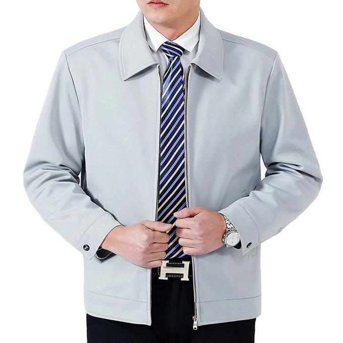Áo khoác nam trung niên AK22 - Màu trắng xanh