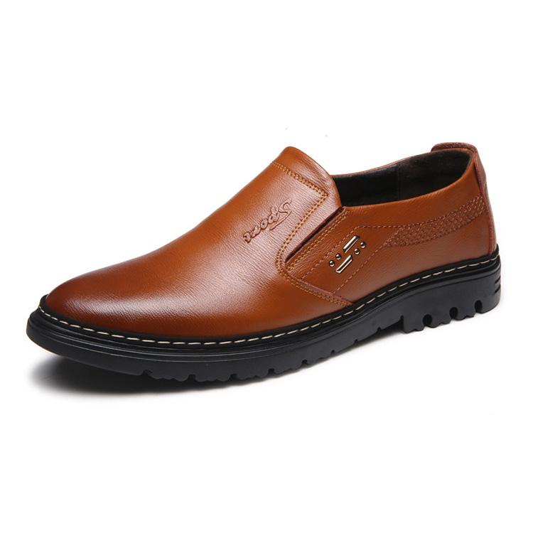 Giày lười nam trung niên da thật - Mã GB012