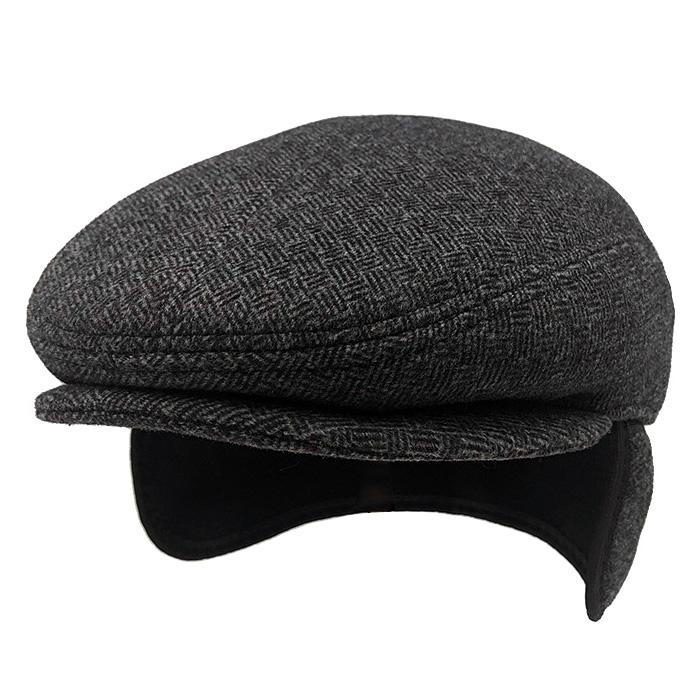 Mũ beret nam trung niên vải dạ, có bịt tai - Mã M406